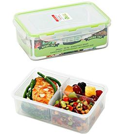 Bento Box Meal Prep Containers 3 Pack PREMIUM Divided Food S