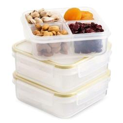Komax Biokips Food Storage Lunch Container - Dividers With 4