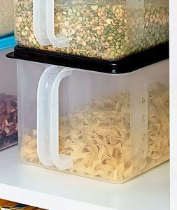 Black Bulk Storage Handled Bin Pantry Cabinet Food Container