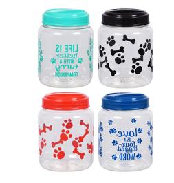 BPA-Free Plastic Airtight Dog Treat & Food Storage Container