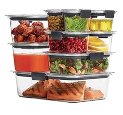 Rubbermaid Brilliance 20-piece Food Storage Container Set Or