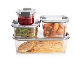 Rubbermaid Brilliance 8-piece Food Storage Container Set Org