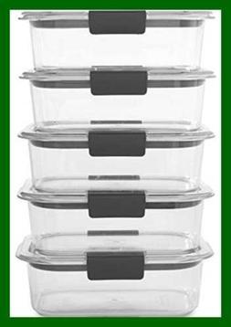 Rubbermaid Brilliance Food Storage Container BPA Free Plasti
