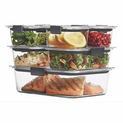 Rubbermaid Brilliance Food Storage Container, 100% Leak Proo