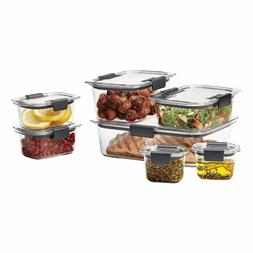Rubbermaid Brilliance Food Storage Container, 14-Piece Set,