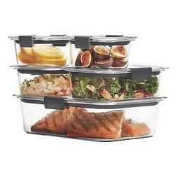 Rubbermaid Brilliance Food Storage Containers Airtight Lids