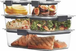 Rubbermaid Brilliance Leak-Proof Food Storage Containers wit