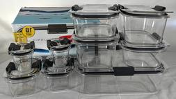 Rubbermaid Brilliance Microwavable Food Storage Container Se
