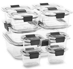 Rubbermaid Brilliance 22-piece Plastic Food Storage Containe