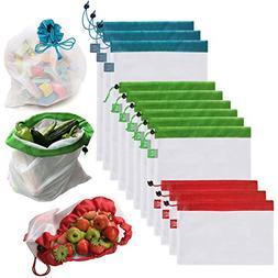 Brotrade Reusable Mesh Produce Bags Washable Eco Friendly Ba