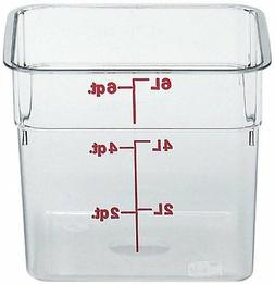 Camwear Polycarbonate Square Food Storage container, 6 Quart
