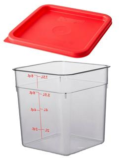 Cambro Camwear Polycarbonate Square Food Storage Container,