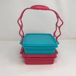 TUPPERWARE CARRY ALL SQUARE GOODY LUNCH BOX SET