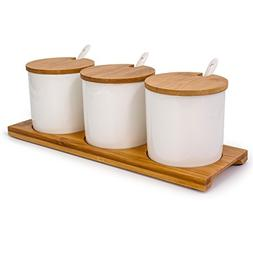 June Sky Ceramic Food Storage Containers with Bamboo Lid- Mo