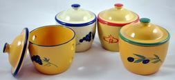 Cooks Innovations Ceramic Garlic Keeper - Hand Painted Stora
