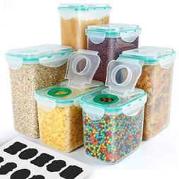 Cereal Container, VERONES Airtight Plastic Storage Container