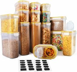 Cereal Container, Food Storage Containers 15 Pack Airtight C