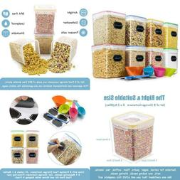 Cereal Container Food Storage Containers, Blingco Set Of 8