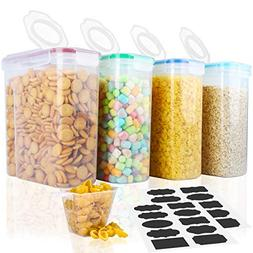 Cereal Container,MCIRCO Food Storage Containers,Airtight Flo