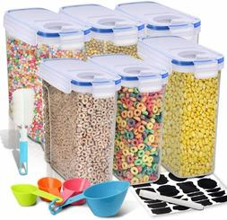 Cereal Container Set of 6  EAGMAK Airtight Dry Food Storage