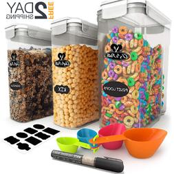 Cereal Container Storage Set  Food Storage Containers, 8 Lab