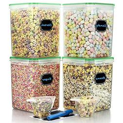 Large Cereal Containers Food Storage Airtight Pantry Contain