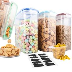 Cereal Containers,MCIRCO Upgraded Airtight Lids Cereal dispe
