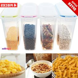 cereal dispenser storage container 3set label food