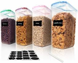 cereal storage container set bpa free plastic