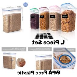 Vtopmart Cereal Storage Container Set, BPA Free Plastic Airt
