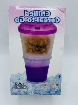 Cereal To Go Snack Food Storage Container 2 Layer Milk Cup w