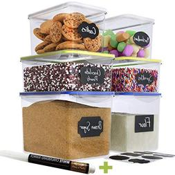 Chef's Path Large Food Storage Containers - Great for Flou