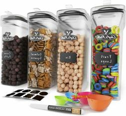 Chef's Path Cereal Container Storage Set-100% Airtight Food