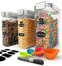 Chef's Path Cereal Storage Container Set - 100% Airtight B