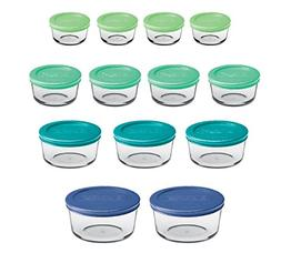 BEST Classic Glass Food Storage Containers with Lids Mixed B