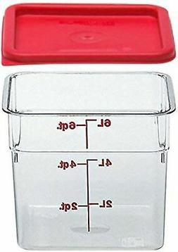 Cambro Clear Camsquare 6 Qt Polycarbonate Food Container wit