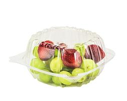 SafePro 6x6x3 Clear Hinged Lid Plastic Container, , Polyethy