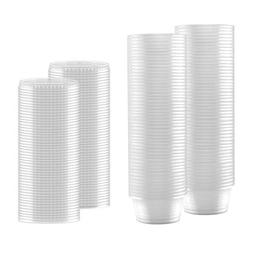 100-Pack of 2 Ounce Clear Plastic Jello Shot Cup Containers