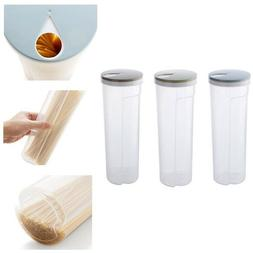 Clear Plastic Tall Dry Food Spaghetti Noodle Pasta Container