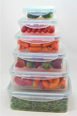 Click-n-Lock Airtight Food Storage Containers - Rectangular