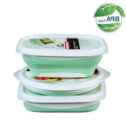 Collapsible Food Storage Containers leakproof for Kitchen -
