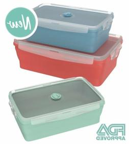 Wamery Collapsible Silicone Food Storage Containers 3-Pack o
