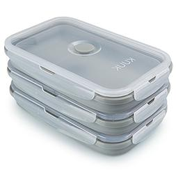 KUUK Collapsible Silicone Food Storage Container Perfect for