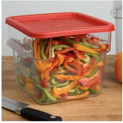 Choice Commercial Clear Square Plastic Food Storage Containe
