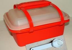 Complete Tupperware Pak-N-Carry Lunch Box Set #1254 w/4 Cont