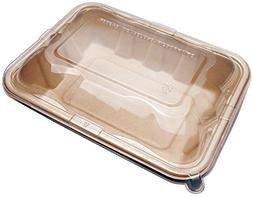 32oz Compostable Eco Friendly Container Trays with Lids - D