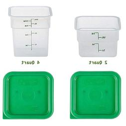 Cambro Containers With Lids - 2qt and 4qt Food Storage Set -