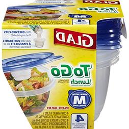 Glad Food Storage Containers, To Go Lunch, 32 Ounce, 4 Count