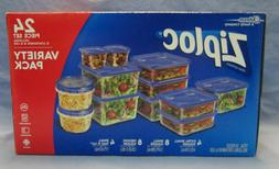 Ziploc Containers Variety Pack, 24 count per pack - 4 per ca