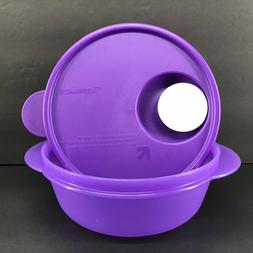 Tupperware CrystalWave 2 1/2 Cup Round Microwave Lunch Bowl